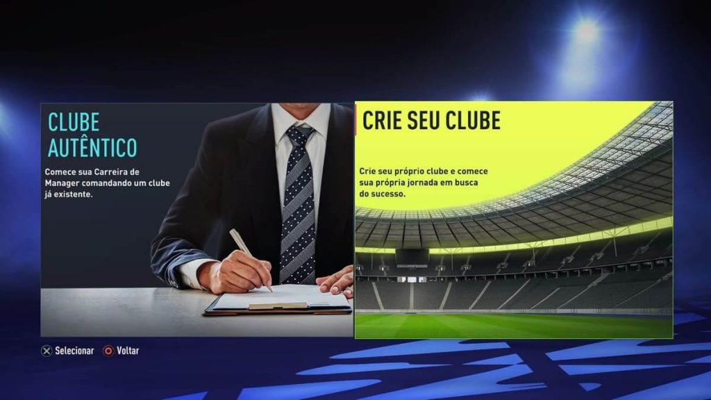 mudanças no modo carreira de clubes